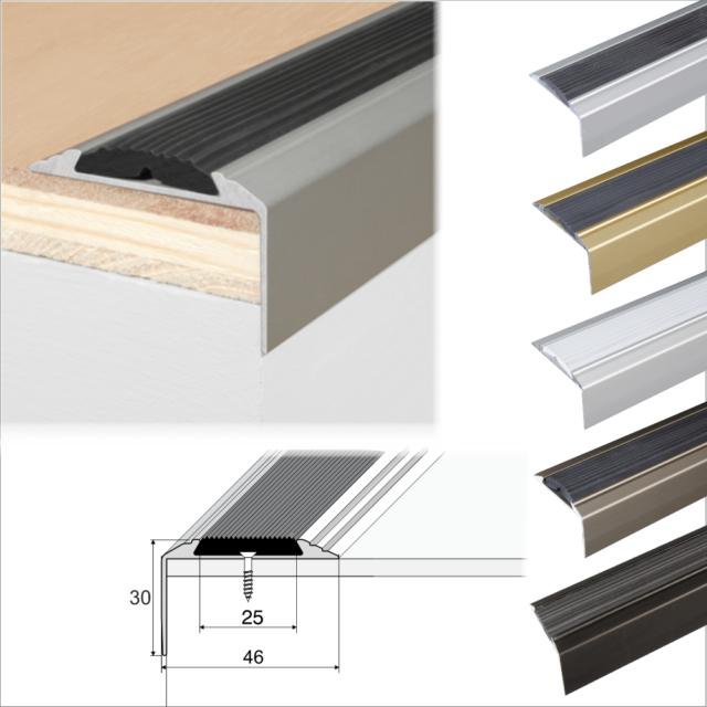 Aluminium Stair Nosing Edge Trim Step Nose Edging Nosings For Carpet,Wood.