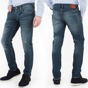Pepe-Herren-Used-Look-Slim-Fit-Stretch-Jeans-Hose-Hatch-CF1-W30-L34