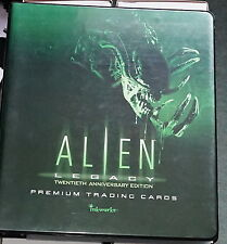 Inkworks Alien Legacy Complete 90 Trade card set in Special Binder + extras