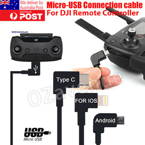 90-Micro-USB-Cable-Type-C-OTG-30cm-for-DJI-Spark-Mavic-Pro-iPad-iPhone-Android