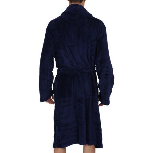 Bathrobe USA SELLER Fast Ship Coral Fleece Thick Very Soft /& Warm Mens Robe