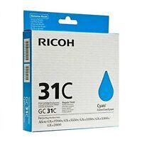 Genuine Ricoh 405689 Cyan Toner Cartridge Gc31c 1920 Page For Gxe2600, Gxe3300n