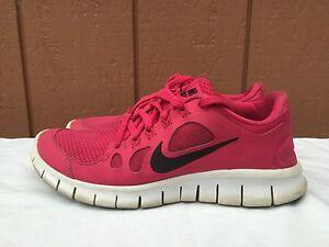 03ec9b8e6c03 NIKE FREE 5.0 (GS) Shoes 580565-601 Pink Gray Black White Girls ...