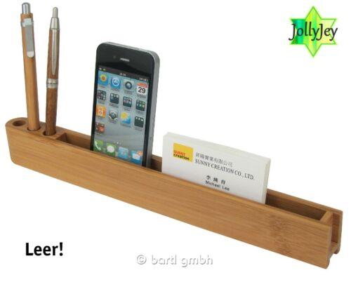 Stiftebox Bambus//Alu Schreibtischbox Box Organizer Stiftbox Geschenk Holz 111443