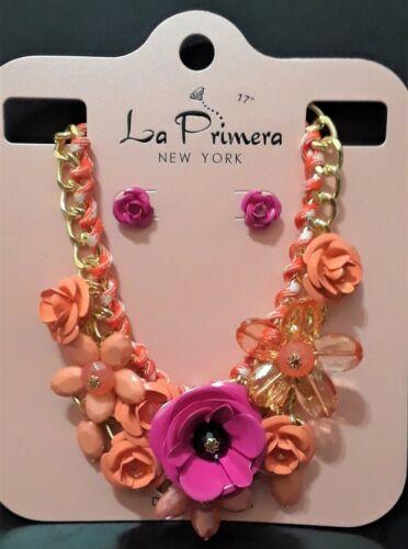 Statement Necklace Chain Multi Flower Craft Chunky Rose Daisy Bib Set Charm Bead