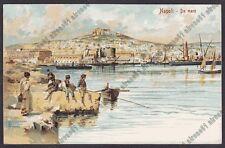 NAPOLI CITTÀ 209 COSTUMI MACCHIETTE Illustratore CAPUANO Cartolina circa 1906