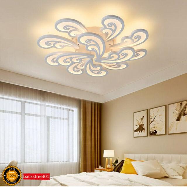 Modern Acrylic LED Ceiling Light Bedroom Lamp Living Room Chandelier  Lighting