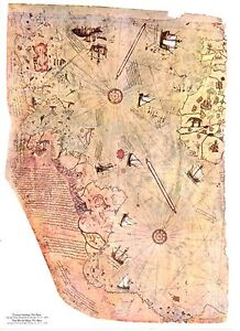 The piri reis map is a world map compiled poster a0 a1 a2 a3 a4 a5 image is loading the piri reis map is a world map gumiabroncs Images