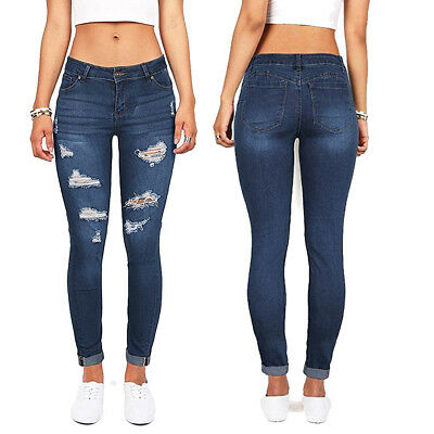 Wax Jeans Women/'s High Rise Skinny Jeans Distressed Stretchy Slim Fit Causal
