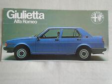 Alfa Romeo Giulietta brochure c1977 small format