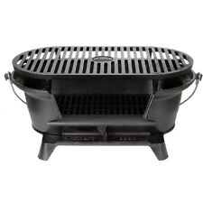 Portable Cast Iron Grill Hibachi Charcoal Vintage Bbq Cook Picnic Patio  Seasoned