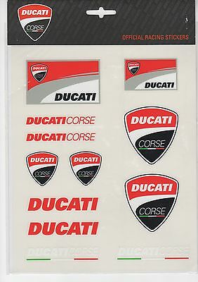 New Official Ducati Corse Large Sticker Set  - 14 56006