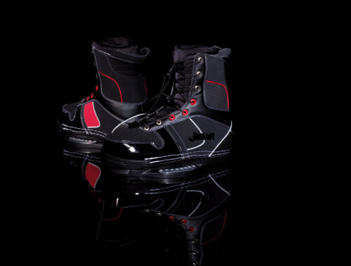 Jobe Brigade Wakeboard Bindings UK 8-8.5 Black Red Jetski Boat Cable Park Boots