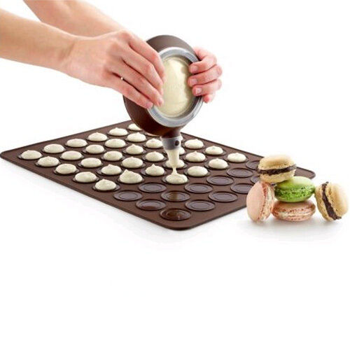 48 Cycl Macaron Bakeware Mat cake Muffin Pastry cookie mould fondant mold LC940