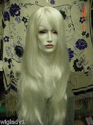 SIN CITY WIGS VERY LONG STRAIGHT LAYERS SEXY DANCER WHITE BLONDE SLEEK SOFT HOT