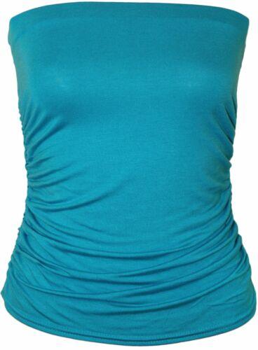 Neue Damen Plus Größe trägerlosen Boob Top-Sommer-Weste Top 44-50
