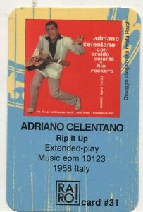 ADRIANO-CELENTANO-RARO-CARD-made-in-ITALY-Rip-it-up-RARO-CARD-PLASTIFICATA