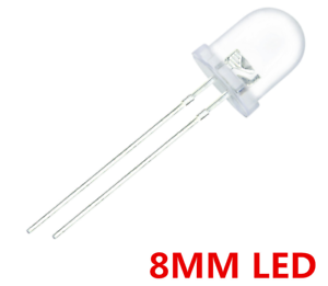 3//5//10mm Ultra Bright Water Clear LED Bulb 3V All Colours Light Emitting Diode