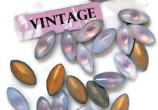 Vintage 10x5mm Navettes Rhinestones Sabrina Light Amethyst Foiled (202BSQ) NOS