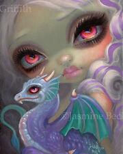 Jasmine Becket-Griffith art print SIGNED dragonling purple dragon Violet Icing
