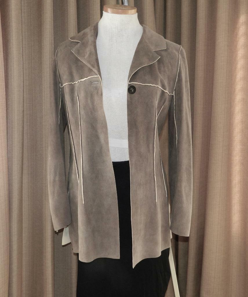 CHANEL Jacket Deer Skin Suede Chanel Horn Button … - image 2