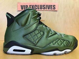 buy online 1c994 1240f Image is loading Nike-Air-Jordan-VI-Retro-6-Pinnacle-Olive-