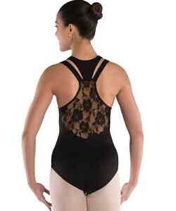 NEW Dance Leotard Floral Lace ADULT SIZES Racer Back Lycra Ballet Pointe Jazz