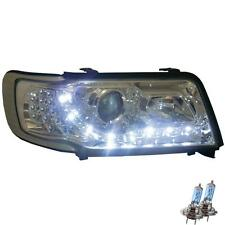 Scheinwerfer Set für Audi 100 C4 Bj. 90-94 LED Dragon Lights klarglas/chrom