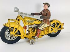 HUBLEY YELLOW Indian 4 Cylinder Cast Iron Motorcycle Donald Kaufman Collection