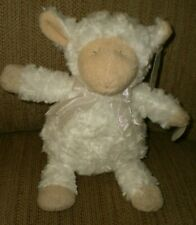 "Mary Meyer Christening Wind-Up /""Jesus Loves Me/"" Musical Lamb Stuffed Animal Toy"