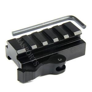 5-Slot-Quick-Release-Detach-QR-QD-1-2-034-Riser-Mount-for-Picatinny-Rail