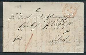 Altdeutschland NDPB plus propre faltbrief à partir de Kembs-fermée. 11.2.1869 à Erfurt-r. 11.2.1869 nach Erfurtafficher le titre d`origine Ep93YYuS-07155753-453528101
