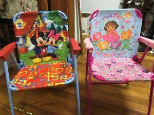 Pleasing Details About Pair Childrens Folding Lawn Chairs Rw Machost Co Dining Chair Design Ideas Machostcouk