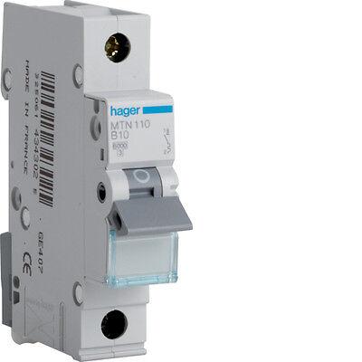 HAGER CONSUMER UNIT SP MCB CIRCUIT BREAKER MTN110 10A 10 AMP