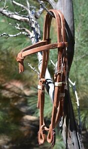 Jose-Ortiz-5-8-034-Working-Harness-Leather-Futurity-Browband-Headstall-Tie-Ends