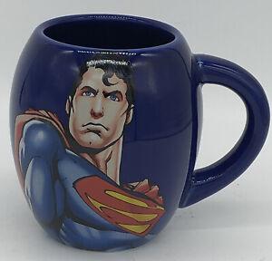 Superman-Man-Of-Steel-DC-Comics-Blue-Oval-18oz-Coffee-Tea-or-Cocoa-Mug-Cup-Ceram