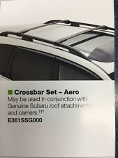 2014 -2017 Subaru Forester OEM Aero Cross Bars Roof Rack E361SSG000 Genuine NEW