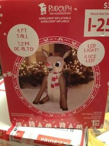 Rudolph The Red Nosed Reindeer 50 Years & Still Glowing Airblown Inflatable New