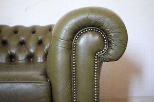 Chesterfield-2-Sitzer-amp-1-Sessel-echt-Leder-England-Luxus-Pur
