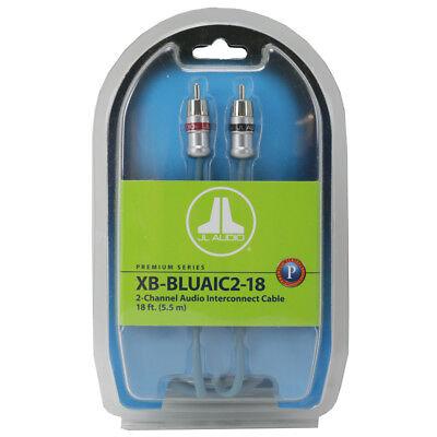 JL AUDIO® XB-BLUAIC2-18 2-CHANNEL BLUE RCA CAR STEREO INTERCONNECT CABLES 18 FT.