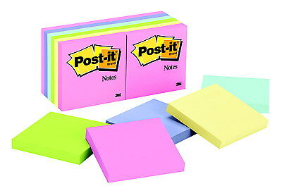 3M Post-it Recycled Paper Plain Original Note Value Pack, 1-1/2 X 2 Inches, C...