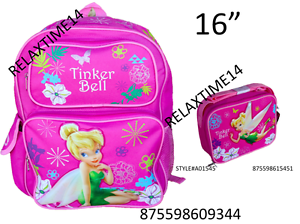 32953fc01d8 Image is loading Disney-Fairies-Tinkerbell-Tink-16-034-Backpack-amp-