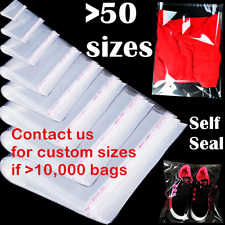 Bags Clear Resealable Self Sealing Adhesive Cello Lip Amp Tape Plastic Poly Bag