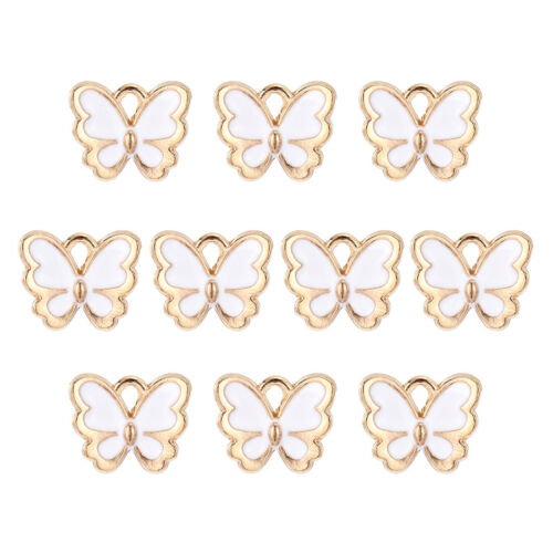 10Pcs//Set Enamel Butterfly Charms Pendant DIY Making Necklace Bracelet Jewelry