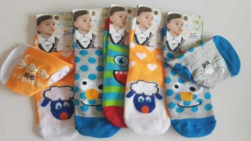 5 Paar Baby Jungen ABS Antirutschsocken 0-6 M 6-12 M.12-18 M.18-24 M.