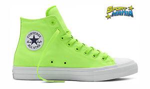 Converse CT II HI Green/Gecko Verde Fluo Scarpe Sportive Sneakers 151118C