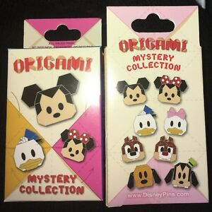 Disney-Origami-Mickey-And-Friends-New-amp-Sealed-2-Pin-Mystery-Box