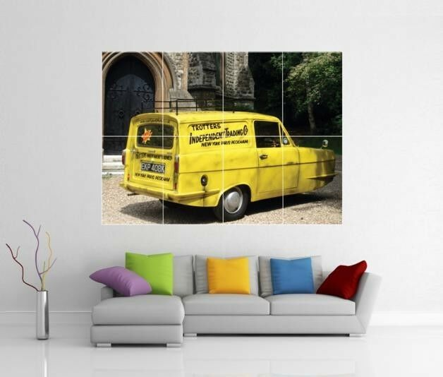 ONLY FOOLS AND HORSES ROBIN YELLOW VAN GIANT WALL ART PRINT PICTURE POSTER H24