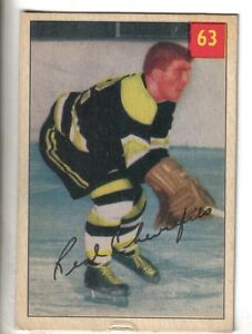 1954-55-Parkhurst-Hockey-Premium-Card-63-Real-Chevrefils-Boston-Bruins-VG-EX