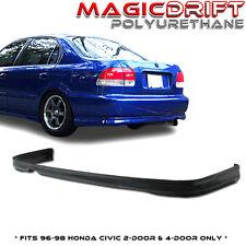 96-98 Honda Civic 4D 4DR Sedan JDM REAR BUMPER body kit PU Lip URETHANE